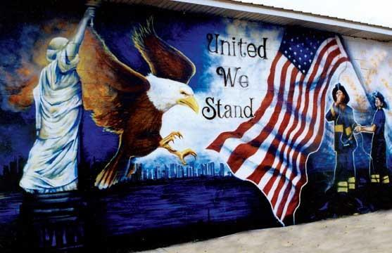 United we stand sept 13 2001 for Chicago mural project